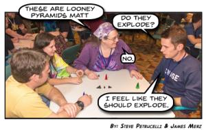 Looney Pyramids, Matt
